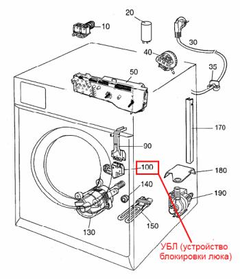 принципиальная электрическая схема стиральной машины ардо